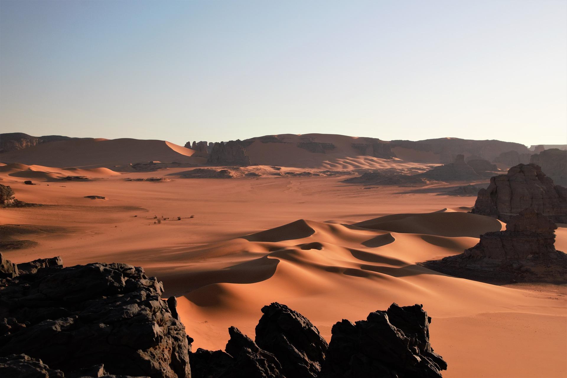 Pustynia Sahara w Algierii