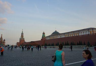 Plac czerwony w Rosji i Baszta Spasska
