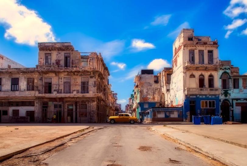 Kuba - Hawana miasto na zatoką Meksykańską