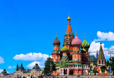 Sobór Wasyla Błogosławionego zbudowany w latach 1555-1561 Przez cara Iwana Groźnego znajdujący się na Placu Czerwonym